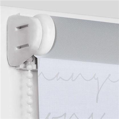 Штора рулонная Письмо 100х160 см цвет белый