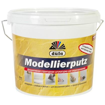 Купить Штукатурка декоративная структурная Dufa Modellierputz 6 кг цвет белый дешевле