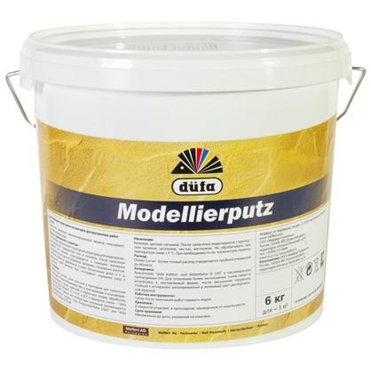 Штукатурка декоративная структурная Dufa Modellierputz 6 кг цвет белый