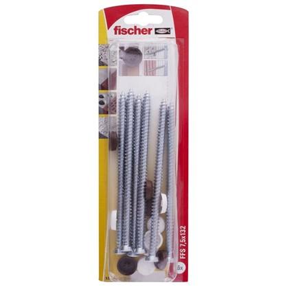 Шуруп для крепления рам Fischer FFS K 7.5x132 мм 6 шт.