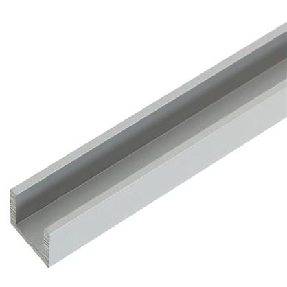 Швеллер алюминиевый 10х10х10х15 см 1 м цвет серебро