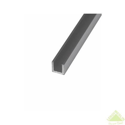 Швеллер алюминиевый 10х15х10х1 2 м цвет серебро