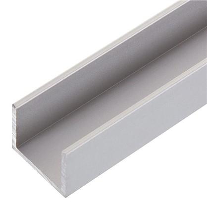 Швеллер алюминиевый 20х25х20х2 см 1 м цвет серебро
