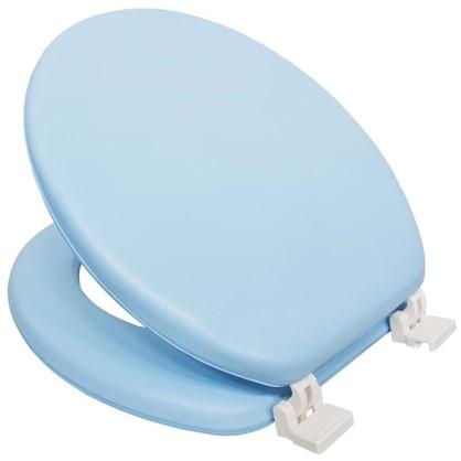 Сиденье для унитаза мягкое цвет голубый