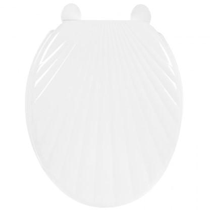 Сиденье для унитаза Орио ракушка цвет белый