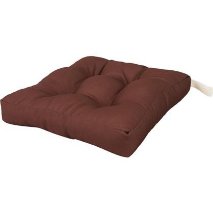 Сидушка для стула 40х35 см цвет коричневый
