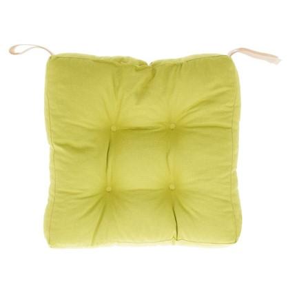 Купить Сидушка для стула 40х40х6 см цвет горчичный дешевле