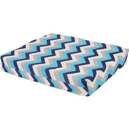 Купить Сидушка для стула Бесконечность 40х35 см жаккард цвет синий дешевле