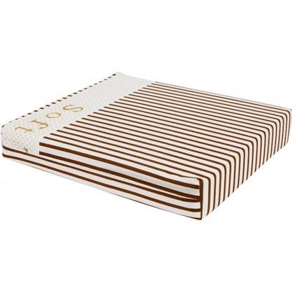 Купить Сидушка для стула Прикосновение 40х35 см цвет коричневый дешевле