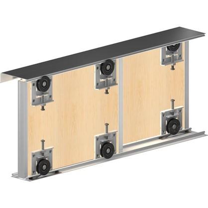 Система для раздвижных дверей Betta 1800 мм для 2 дверей цвет шампань