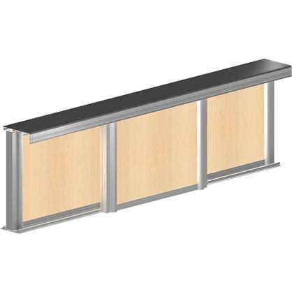 Система для раздвижных дверей Betta 2700 мм для 3 дверей цвет золото
