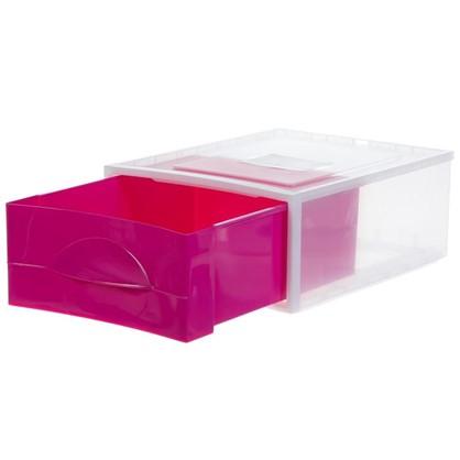 Купить Система хранения Мобиле 475x342x178 мм цвет розовый дешевле