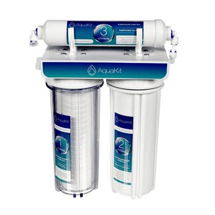 Купить Система трехступенчатая АкваКит PF-2-1 для нормальной воды дешевле