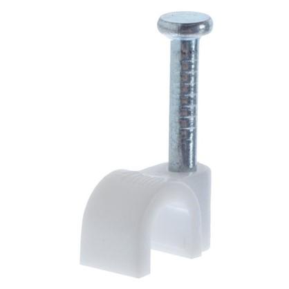 Скоба круглая с гвоздем Экопласт 5.3х4 50 шт.