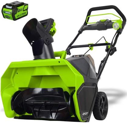 Снегоуборщик GreenWorks аккумуляторный 40 В 4 Ah безщёточный двигатель зарядное устройство в комплекте