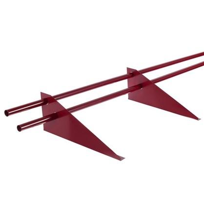 Купить Снегозадержатель трубчатый универсальный 3 м цвет красный дешевле