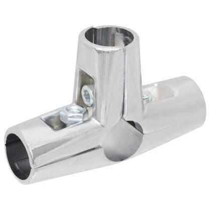 Купить Соединитель четырех труб d25 мм цвет хром дешевле