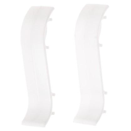 Соединитель для плинтуса 55 мм цвет белый 2 шт.