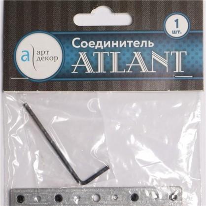 Соединитель для шин Atlant металл цвет серебро