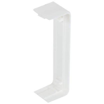 Соединитель на стык 74х20 мм цвет белый 4 шт.
