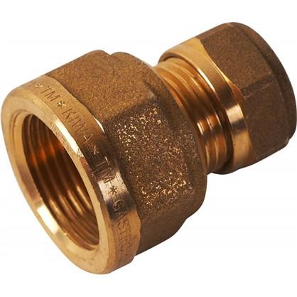 Соединитель обжимной Tiemme внутренняя резьба 15х3/4 мм медь