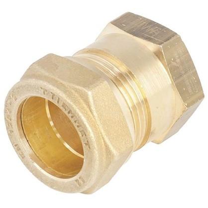 Купить Соединитель обжимной Tiemme внутренняя резьба 22х1/2 мм медь дешевле