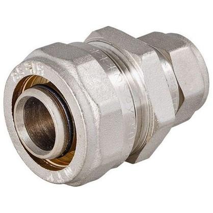 Соединитель обжимной Valtec 26-16 мм никелированная латунь
