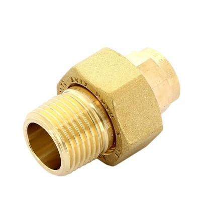 Соединитель пайка 15 мм x 1/2 разъем наружная резьба медь