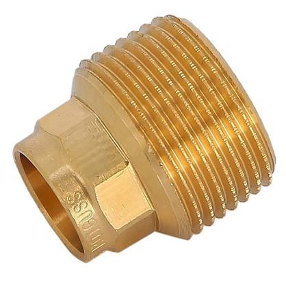 Купить Соединитель пайка 15 мм x 3/4 наружная резьба медь дешевле