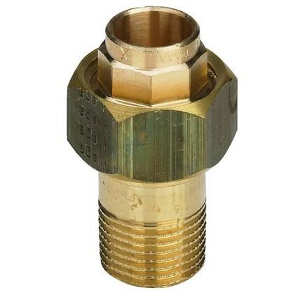 Соединитель пайка 22 мм x 3/4 разъем наружная резьба медь