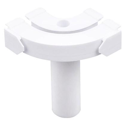 Купить Соединитель поворотный однорядный для шины пластик цвет белый 2 шт. дешевле