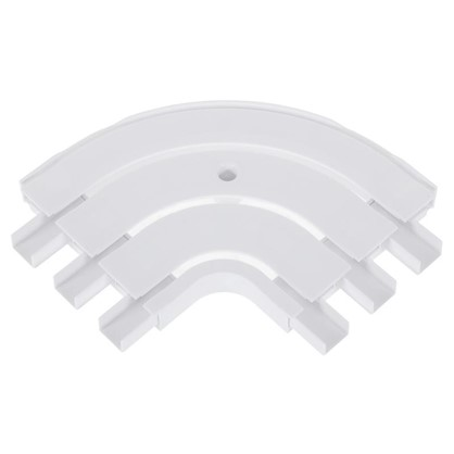 Соединитель поворотный трехрядный Inspire внешний пластик цвет белый