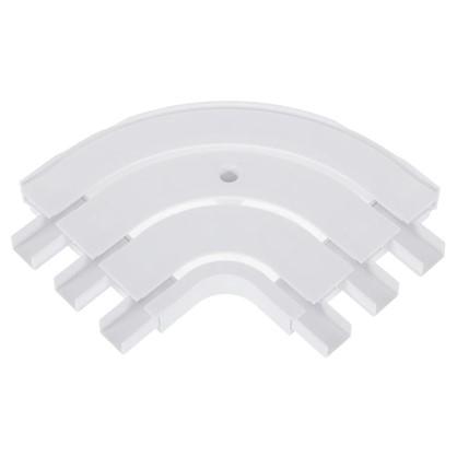 Купить Соединитель поворотный трехрядный Inspire внутренний пластик цвет белый дешевле