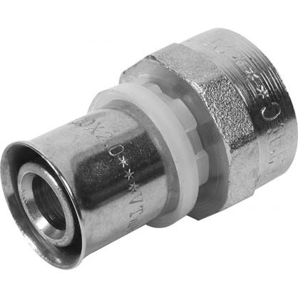 Соединитель пресс Valtec внутренняя резьба 20х3/4 мм никелированная латунь