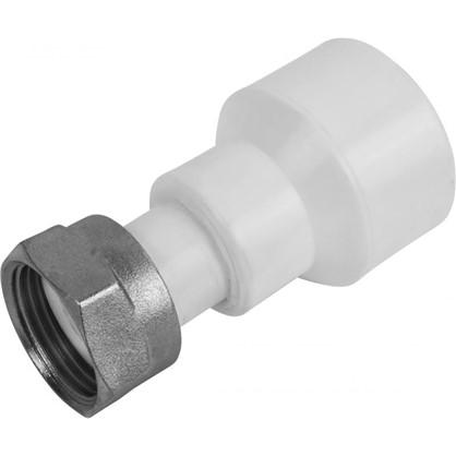 Соединитель с накидной гайкой 32х3/4 мм полипропилен