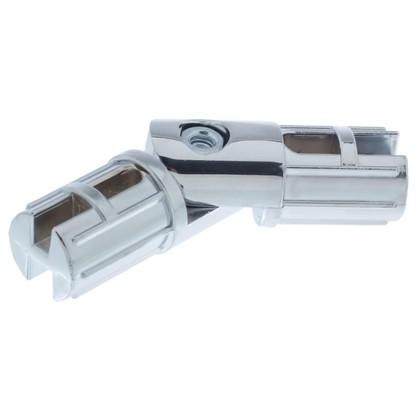 Соединитель труб поворотный d25 мм цвет хром