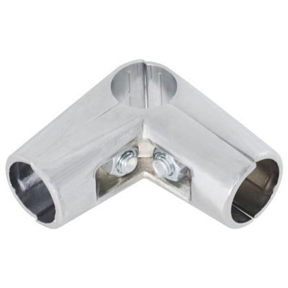 Купить Соединитель трех труб d25 мм угловой цвет хром дешевле