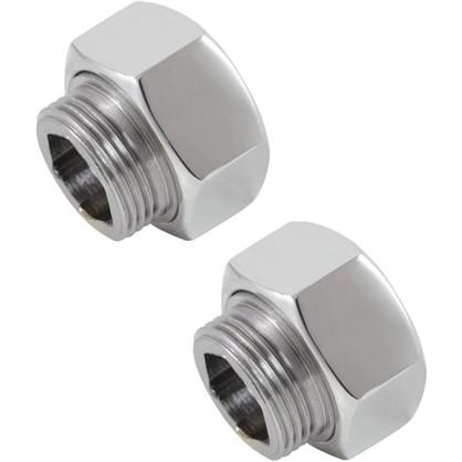 Соединители для полотенцесушителя прямые 1х3/4 нержавеющая сталь