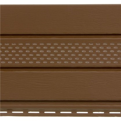 Софит ПВХ с перфорацией 2700х300 мм темно-коричневый 0.81 м2