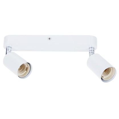 Купить Спот Basico 2xE27x60 Вт металл цвет белый дешевле