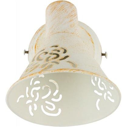 Купить Спот Conto 1 лампа 2 м² цвет белый/патина дешевле