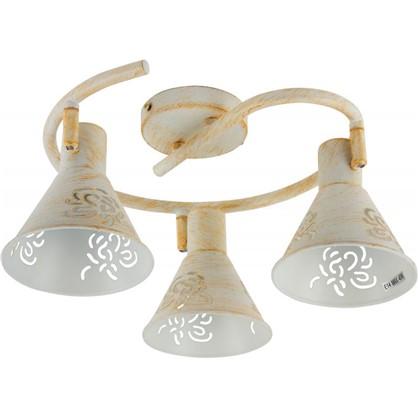 Спот Conto 3 лампы 6 м² цвет белый/патина