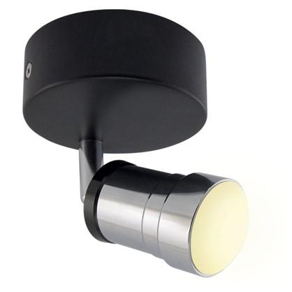 Спот светодиодный Костус 1х5 Вт 3000 К IP44 цвет черный/хром