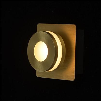 Спот светодиодный Пунктум 1х5 Вт 220 В IP44 цвет золото