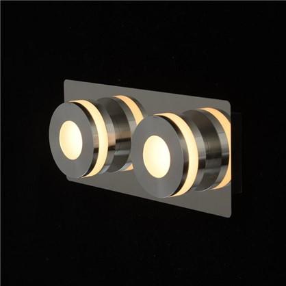 Спот светодиодный Пунктум 2х5 Вт 220 В IP44 цвет хром