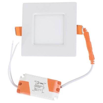 Купить Спот светодиодный врезной квадратный 3 Вт 4000K 85 см цвет белый свет холодный белый дешевле
