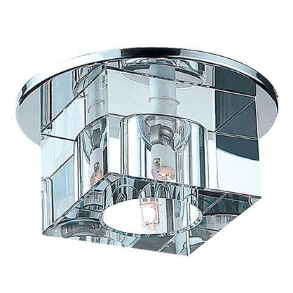 Спот встраиваемый Crystals куб цоколь G9 40 Вт цвет хром/прозрачный