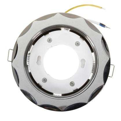 Спот встраиваемый DJ03 цоколь GX53 50 Вт цвет хром/никель