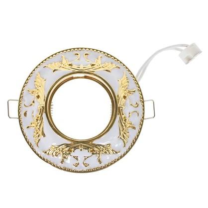 Спот встраиваемый Электростандарт Betsi цоколь GU5.3 50 Вт цвет белый/золото