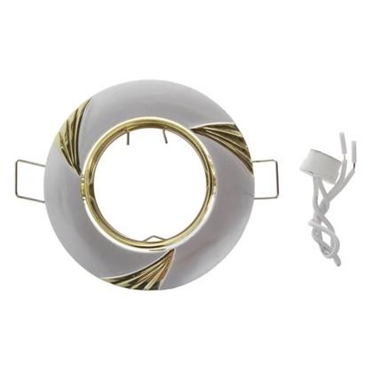 Спот встраиваемый Электростандарт Daniele цоколь GU5.3 50 Вт цвет серебро/золото
